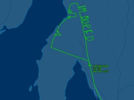 Австралийский пилот три часа писал самолетом фразу