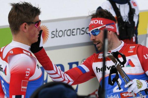 Лыжник Устюгов дисквалифицирован после конфликта с норвежцем Клебо
