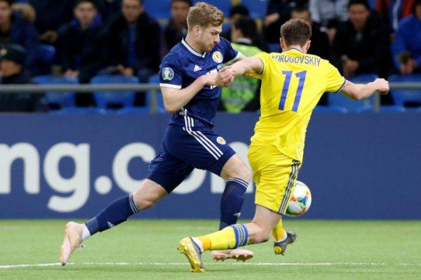 Соперники сборной РФ Казахстан и Шотландия сошлись на поле