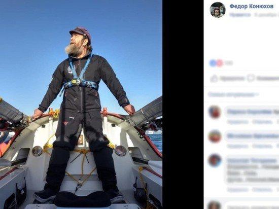 Федор Конюхов на лодке пережил 12-балльный шторм в Тихом океане