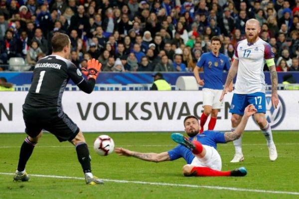 Французы не пожалели исландцев в отборочном матче Евро-2020