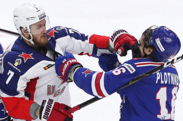 Хоккеисты СКА обыграли ЦСКА и сравняли счет в серии