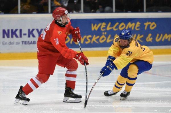 В четвертьфинале юниорского ЧМ сборная России сыграет с Беларусией