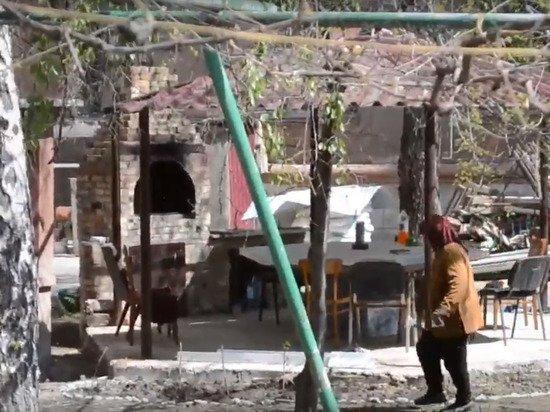 Во дворе сожжённого Дома профсоюзов в Одессе построили шашлычную