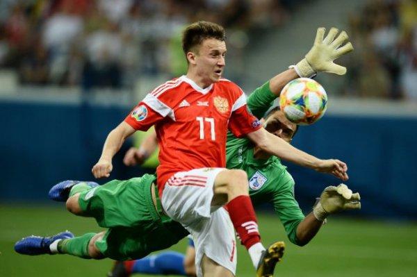 Сборная России обыграла Кипр в отборочном матче Евро-2020