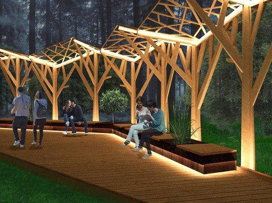 В парке «Филатов луг» проложат экотропу с перголами