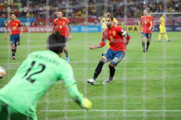 Рамос вошел в десятку лучших бомбардиров сборной Испании