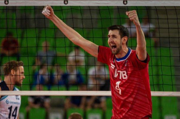 Мужская сборная России по волейболу на обыграла команду из Суоми на Евро-2019