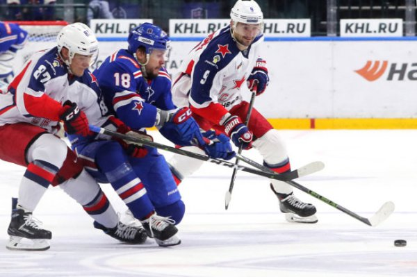 Хоккеисты ЦСКА во второй раз в сезоне КХЛ победили СКА