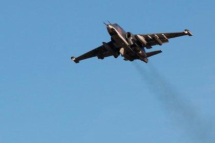 Обнаружено место падения российского Су-25