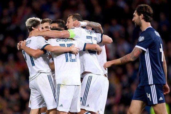 Россия - Шотландия - онлайн-трансляция отборочного матча Евро-2020
