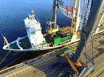 Самый мощный в России портовый кран заработал в порту «Бронка»
