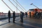 По российско-китайскому мосту через Амур в тестовом режиме проехала спецтехника
