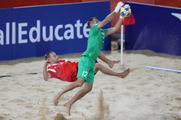 Сборная России вышла в 1/4 финала чемпионата мира по пляжному футболу