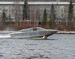Высокоскоростной катер на подводных крыльях «Сагарис» спущен на воду и прошел первые ходовые испытания