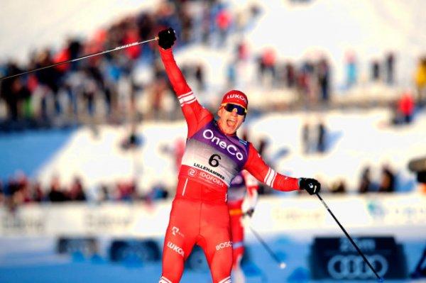 Александр Большунов выиграл скиатлон в Лиллехаммере