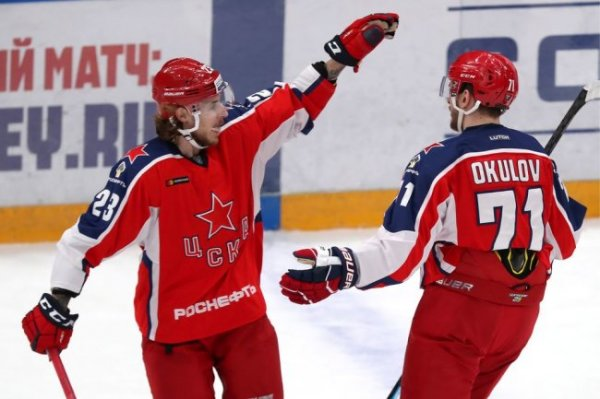 ЦСКА завершил год лидером в таблице КХЛ