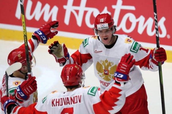 Россия обыграла Швейцарию в четвертьфинале молодежного ЧМ по хоккею