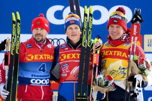 Устюгов и Большунов завоевали серебро и бронзу на