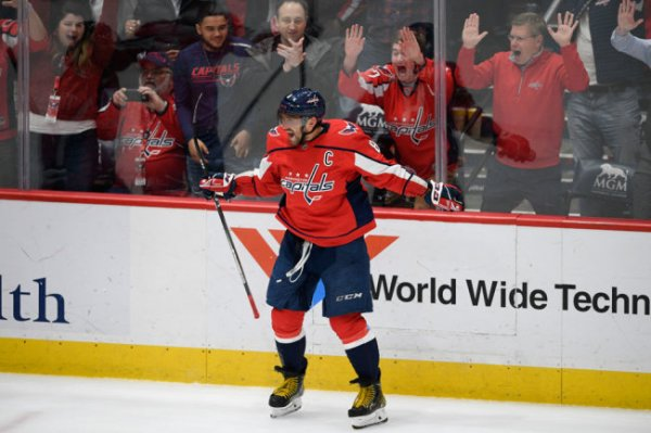 "Форвард ""Вашингтона"" Александр Овечкин признан первой звездой дня в НХЛ"