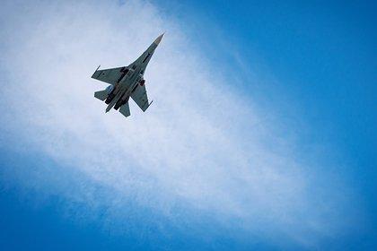 Появилось видео с места крушения военного учебного самолета на юге России