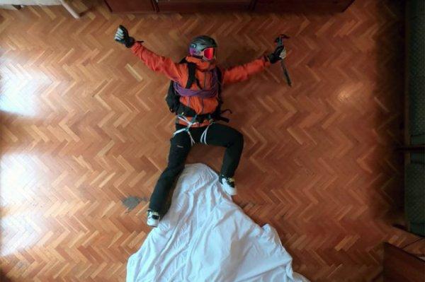 Испанский лыжник покорил горы, не выходя из дома