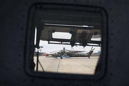 Военный вертолет Ми-35 совершил жесткую посадку в Крыму