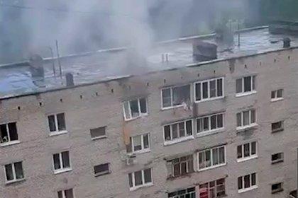 Летающие крыши во время мощного урагана в Чечне попали на видео