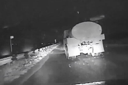 В российском регионе полиция со стрельбой задержала пьяного водителя молоковоза