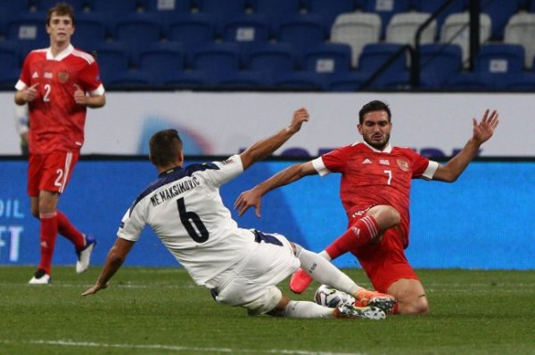 Сборная России обыграла сербов в матче Лиги наций