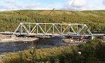 РЖД завершили установку пролетных строений нового ж/д моста через реку Кола под Мурманском