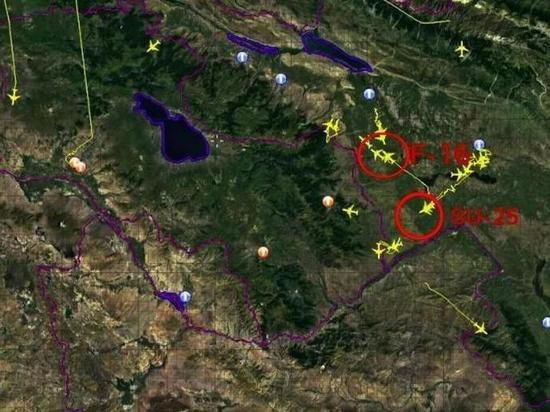 Армения показала передвижение турецких F-16