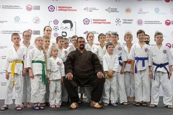 Стивен Сигал открыл фестиваль айкидо в Екатеринбурге