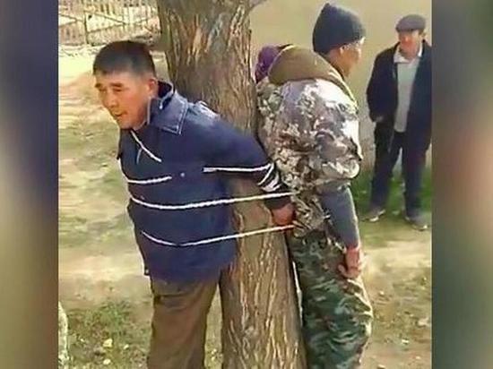 Жители киргизского села привязали к дереву чиновника и участкового