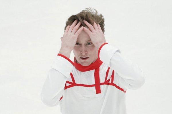 Фигурист Самарин упал с четверного тулупа на Кубке России