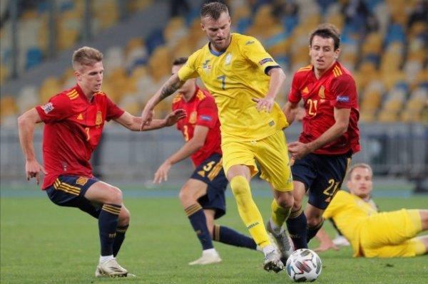 Украина обыграла Испанию в Лиге наций