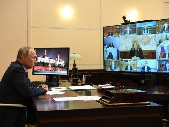Путина дважды передернуло от страшных слов чиновников