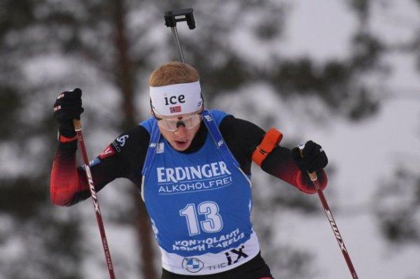 Норвежец Бе стал победителем спринта на этапе КМ по биатлону