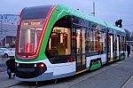 В Калининград прибыл для испытаний первый в России низкопольный двухсекционный трамвай «Корсар»