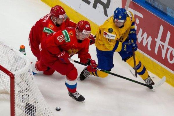 Опубликованы голы и лучшие моменты матча Россия-Швеция на МЧМ по хоккею