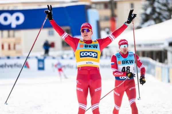 Российский лыжник Большунов стал вторым в спринте на старте