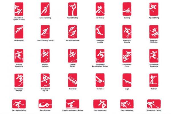 Представлены пиктограммы видов спорта зимней Олимпиады-2022
