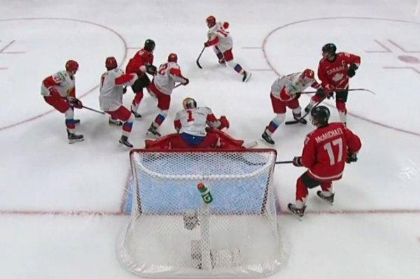 Россия уступает со счетом 0:3 Канаде после первого периода полуфинала МЧМ