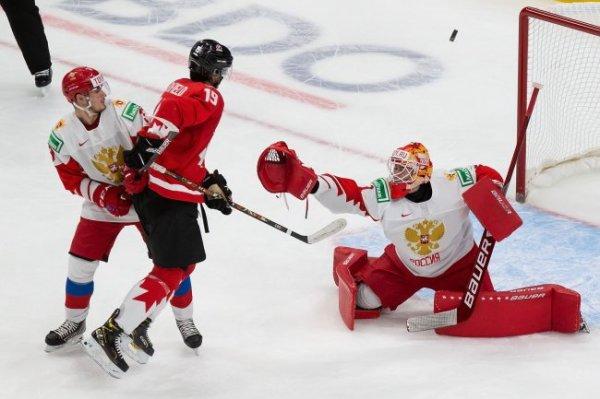 Опубликовано видео голов в матче МЧМ по хоккею Россия - Канада