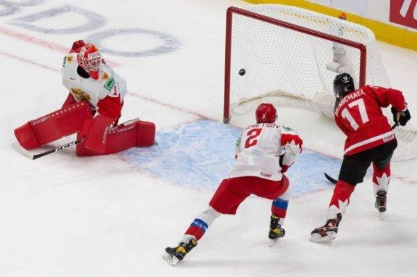 Россия крупно уступает Канаде после двух периодов полуфинала МЧМ