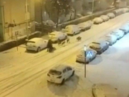 Занесенные снегом испанцы надеются, что непогода заморозит COVID