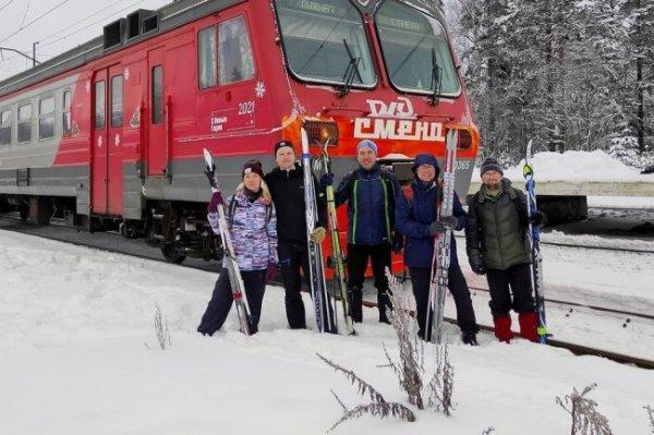 Специальные поезда для лыжников запустили в Санкт-Петербурге