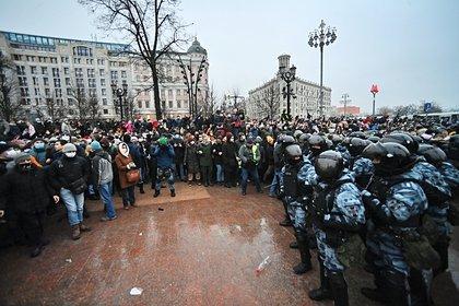 Нападение на омоновцев в Москве сняли на видео