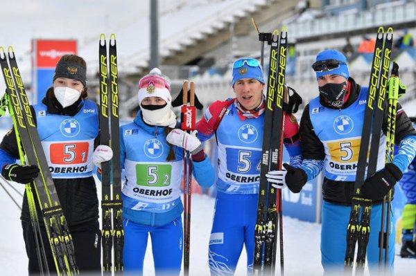 Определен состав сборной России на первую гонку ЧМ по биатлону