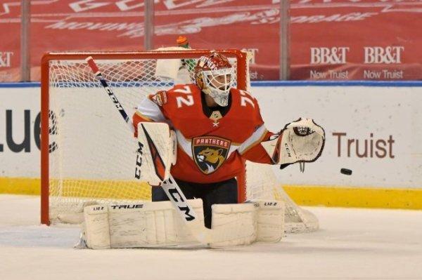 Вратарь Сергей Бобровский стал первой звездой дня в НХЛ